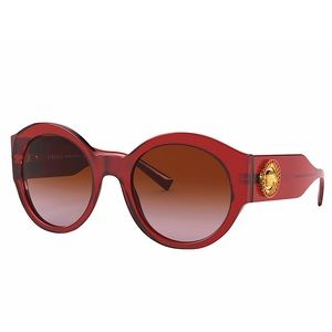 VERSACE Red Oversized Sunglasses with Medusa NWT